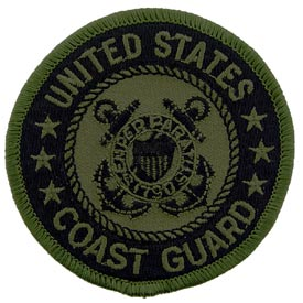 USCG Logo OD Coast Guard Patch - HATNPATCH