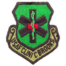 USAF Clinic Brooks Subd Air Force Patch - HATNPATCH