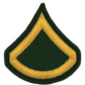 Army E3 Private First Class Dress Green Pair Patch - HATNPATCH