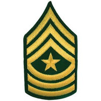 Army E9 Sergeant Major Dress Green Pair Patch - HATNPATCH