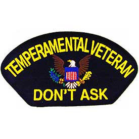 TEMPERAMENTAL VETERAN PATCH - HATNPATCH