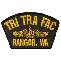 TRI TRA FAC Bangor Wa Gold Dolphin Navy Patch - HATNPATCH