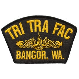 TRI TRA FAC Bangor Wa Gold Dolphin Navy Patch