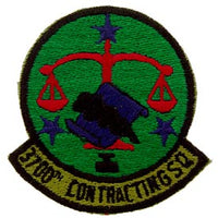 3700th Contracting Squadron Subd Air Force Patch - HATNPATCH