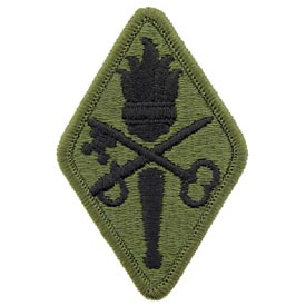 Quartermaster School OD Subd Army Patch - HATNPATCH