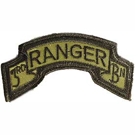 3rd Ranger Bn OD Subd Army Patch