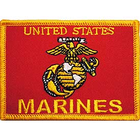 US Marine Corps Emblem Flag Patch - HATNPATCH