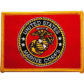 US Marine Corps Seal Flag Patch - HATNPATCH