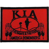 KIA Native American Feathers Flag Patch - HATNPATCH
