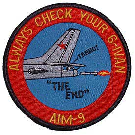 AIM-9 Always Watch Your 6 IVAN Navy Patch - HATNPATCH