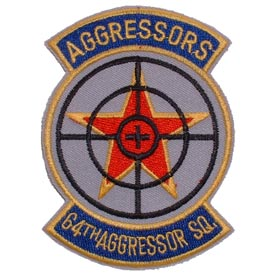 64th Aggressor Squadron Air Force Patch - HATNPATCH