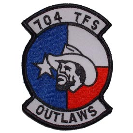 704 TFS Tactical Fighter Squadron The Outlaws Air Force Patch - HATNPATCH