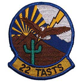22 TASTS Air Force Patch - HATNPATCH