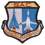 FB-111 Sac Mach 2+ Air Force Patch - HATNPATCH