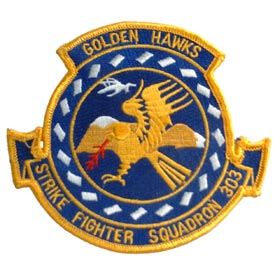 Strike Fighter Squadron 303 Golden Hawks Air Force Patch