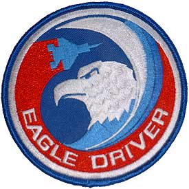 F-15 Eagle Driver Air Force Patch - HATNPATCH