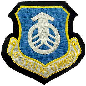 AF Systems Command Air Force Patch Mock Leather Backing - HATNPATCH
