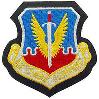 Air Combat Command Air Force Patch Mock Leather Backing - HATNPATCH