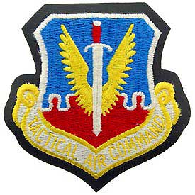 Tactical Air Command TAC Air Force Patch Mock Leather Backing - HATNPATCH