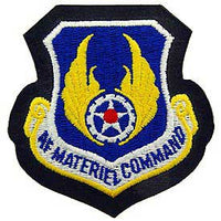 AF Material Command Air Force Patch Mock Leather Backing