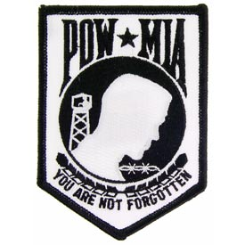 White/Black POW/MIA Patch
