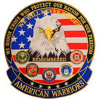 American Warriors Eagle Large Patch - HATNPATCH