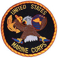 Large Marine Corps Eagle Black Patch - HATNPATCH