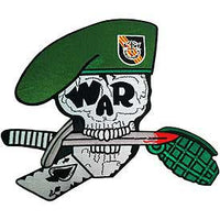 Large Special Forces Green Beret Skull Patch - HATNPATCH