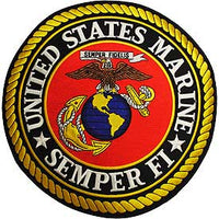 "Large Marine Corps ""Seal Style"" Semper Fi Patch - HATNPATCH"