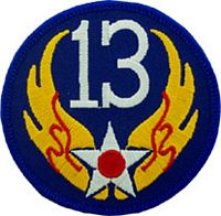 13TH AIR FORCE PATCH