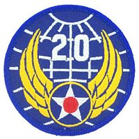 20TH AIR FORCE PATCH - HATNPATCH