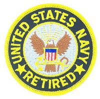 US NAVY RETIRED PATCH