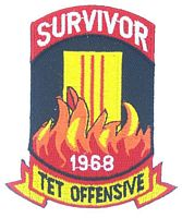 SURVIVOR TET '68 PATCH