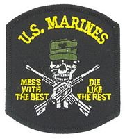 USMC MESS WITH THE BEST PATCH - HATNPATCH