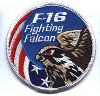 F16 FIGHTING FALCON PATCH - HATNPATCH