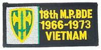 18TH MP VIETNAM PATCH