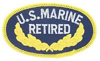 USMC RETIRED PATCH - HATNPATCH