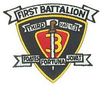 1ST BN 3RD MARINE PATCH