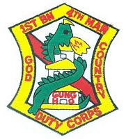 1ST BN 4TH MARINE PATCH