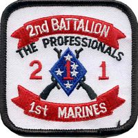2ND BN 1ST MARINE PATCH - HATNPATCH