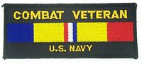 COMBAT VET USN PATCH - HATNPATCH