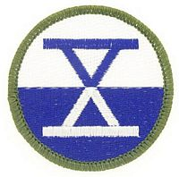 10TH CORPS PATCH - HATNPATCH