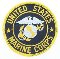 USMC SEAL BLACK PATCH