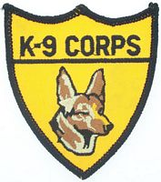 K9 CORPS PATCH