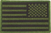 USA FLAG SUBDUE - RIGHT PATCH