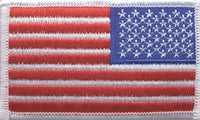 U.S. FLAG (RIGHT) WHITE BORDER PATCH