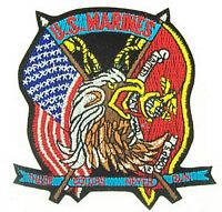 USMC THESE COLORS NEVER RUN PATCH - HATNPATCH