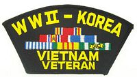 WWII/KOREA/VIETNAM VET PATCH