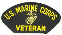 USMC VETERAN - BLACK PATCH - HATNPATCH