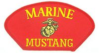 MARINE MUSTANG PATCH